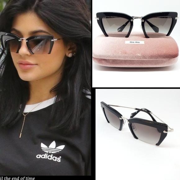 f973d19af08 Miu Miu Sunglasses Cat Eye Square Black